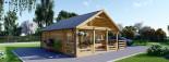 Chalet en bois avec mezzanine ANGERS (44 mm), 36 m² + 19 m² terrasse visualization 1