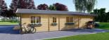 Chalet en bois LINDA (66 mm), 78 m² + 38 m² terrasse visualization 6