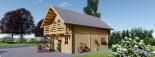 Chalet en bois habitable 2 etages LANGON (44+44 mm, RT2012), 95 m² visualization 6