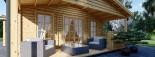 Chalet en bois DONNA PLUS (44 mm), 63 m² + 11.5 m² terrasse visualization 9