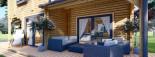 Maison en bois HOLLAND PLUS (66 mm), 120 m² + 13 m² terrasse visualization 10