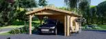 Carport en bois avec abri, 4x7.5 m, 30 m² visualization 7