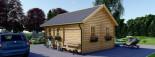 Chalet en bois SCOOT (44 mm), 27 m² + 9 m² mezzanine visualization 6