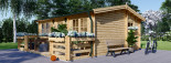 Chalet en bois ALTURA (44+44 mm, RT2012), 31m² +  8 m² terrasse visualization 4