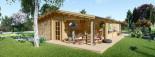 Chalet en bois habitable LINDA (44+44 mm, RT2012), 78 m² + 38 m² terrasse visualization 4