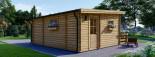 Chalet en bois à toit plat ALTURA (44+44 mm, RT2012), 31m² +  8 m² terrasse visualization 6