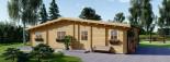 Chalet en bois RIVIERA (66 mm), 100 m² + 20 m² terrasse visualization 8