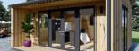 Bureau de jardin TINA (44 mm + bardage, RT2012), 4x4 m, 12 m² + 3.5 m² auvent visualization 8