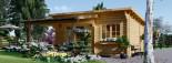 Abri de jardin HELEN (44 mm), 6x4 m, 24 m² + 12.5 m² terrasse visualization 3