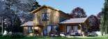 Maison en bois HOLLAND PLUS (66 mm), 120 m² + 13 m² terrasse visualization 2