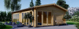 Studio de jardin habitable MARINA (44+44 mm, RT2012), 8x6 m, 48 m² visualization 7