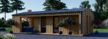 Studio de jardin ANNA Scandinavia (44 mm + bardage), 20 m² + 16 m² terrasse visualization 3