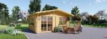 Abri de jardin WISSOUS (34 mm), 5x5 m, 25 m² visualization 3