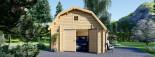 Garage en bois MISSISSIPPI (44 mm), 5x6 m, 30 m² visualization 7