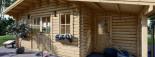 Abri de jardin avec appenti CLARA (44 mm), 7x4 m, 28 m² visualization 7