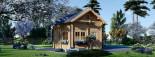 Chalet en bois AVIGNON (44 mm), 19.9 m² + 16 m² étage  visualization 3
