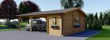 Carport en bois double avec abri, 6x7.5 m, 45 m² visualization 4