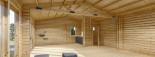 Studio de jardin habitable MARINA (44+44 mm, RT2012), 8x6 m, 48 m² visualization 10