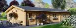 Chalet en bois JULIA (66 mm), 103 m² visualization 6