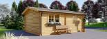 Garage en bois (44 mm), 4x6 m, 24 m² visualization 6