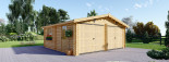 Garage en bois double (44 mm), 6x6 m, 36 m² visualization 3