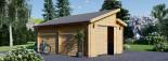 Garage en bois TWIN (44 mm), 4x6 m, 24 m² visualization 5