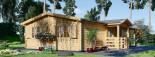 Chalet en bois DONNA PLUS (44 mm), 63 m² + 11.5 m² terrasse visualization 5