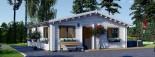 Chalet en bois habitable ALICE (44+44 mm, RT2012), 72 m² visualization 8