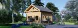 Chalet en bois AVIGNON (44 mm), 19.9 m² + 16 m² étage  visualization 1