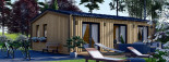 Chalet en bois ANGELA (44 mm + bardage), 50 m²  visualization 3