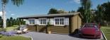 Chalet en bois HYMER (66 mm), 42 m² + 10 m² terrasse visualization 10