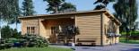 Chalet en bois à toit plat UZES (58 mm), 70 m² visualization 3