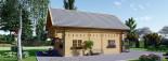 Chalet en bois habitable 2 etages LANGON (44+44 mm, RT2012), 95 m² visualization 3