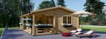 Chalet en bois AMELIA (44 mm), 32 m² + 20 m² terrasse visualization 8