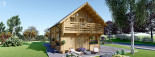 Chalet en bois habitable 2 etages LANGON (44+44 mm, RT2012), 95 m² visualization 4
