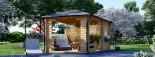 Tonnelle en bois (28 mm), 3x5 m, 15 m² visualization 2