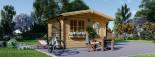 Abri de jardin DREUX (66 mm), 4x4 m, 16 m² visualization 5