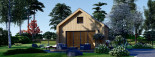 Chalet en bois SARA (44 mm + bardage), 20 m² visualization 2