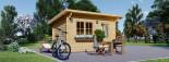 Abri de jardin à toit plat DREUX (44 mm), 4x3 m, 12 m² visualization 5