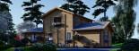Maison en bois HOLLAND PLUS (66 mm), 120 m² + 13 m² terrasse visualization 6