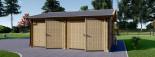 Garage en bois double ALTERNATIVE (44 mm), 6x6 m, 36 m² visualization 4