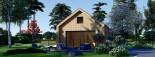 Chalet en bois habitable SARA (44 mm + bardage, RT2012), 20 m² visualization 2