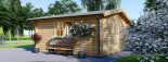 Abri de jardin DREUX (44+44 mm, RT2012), 6x6 m, 36 m² visualization 3