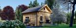 Chalet en bois habitable AVIGNON (44+44 mm, RT2012), 19.9 m² + 16 m² étage visualization 6