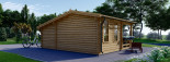 Abri de jardin ISLA (44 mm), 18 m² + 7 m² terrasse visualization 4