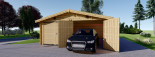 Garage en bois (44 mm), 6x9 m, 54 m² visualization 4