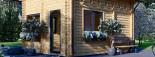 Chalet en bois habitable AVIGNON (44+44 mm, RT2012), 19.9 m² + 16 m² étage visualization 7