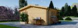 Abri de jardin NINA (44+44 mm, RT2012), 6x6 m, 36 m² visualization 6