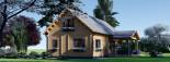 Chalet en bois habitable VERA (44+44 mm, RT2012) 132 m² + 13.5 m² terrasse visualization 4