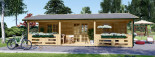 Chalet en bois AMELIA (66 mm), 32 m² + 20 m² terrasse visualization 3